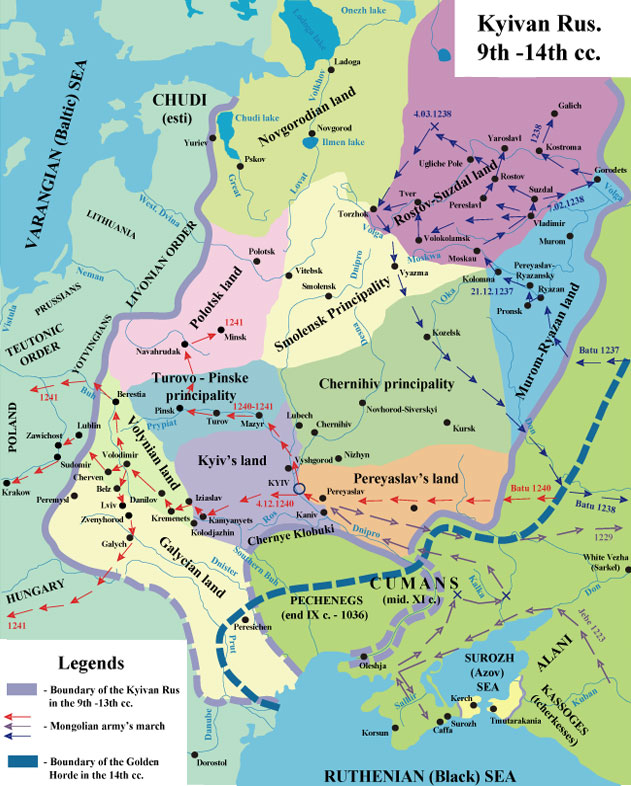 Kyivan Rus 9th - 14th centuries