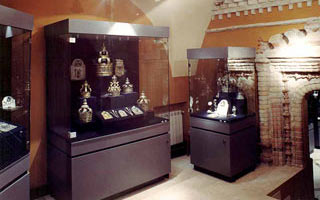 Room 8.  Collection of the Torah crowns, finials, pointers, shields